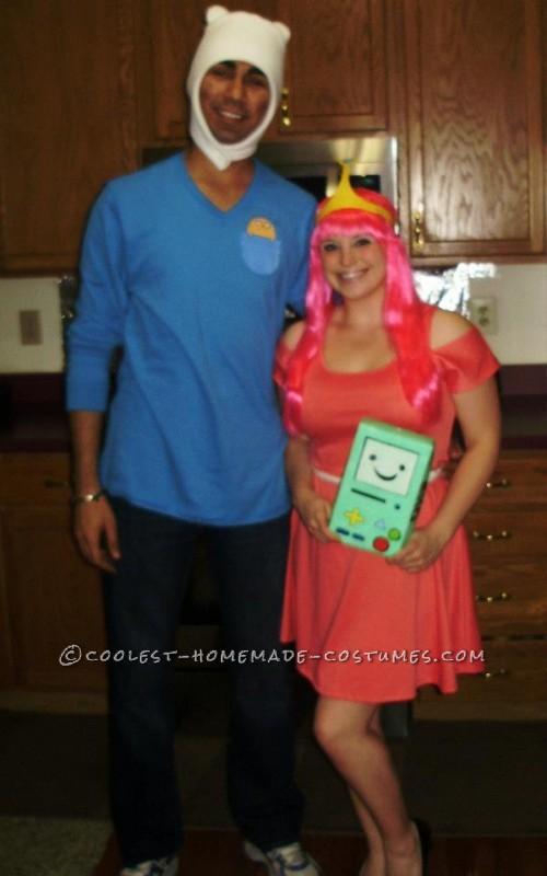 Simple Finn and Princess Bubblegum Couple Costume