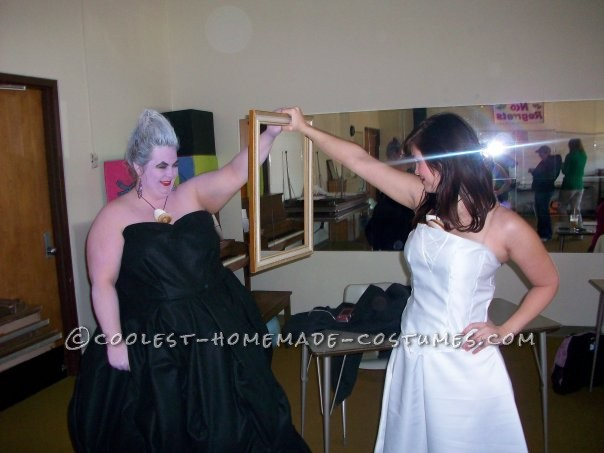 We were Ursula and Vanessa.  We wore matching necklaces.  She made her costume and I made mine.