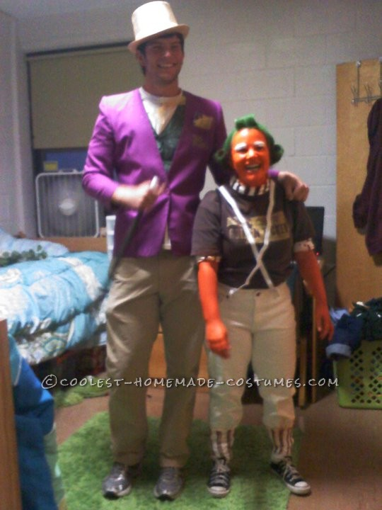 Homemade Willy Wonka and an Oompa Loompa Couples Costume - 4