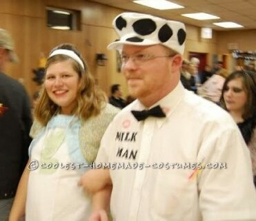 Homemade 1950's Pregnant Housewife and Milkman Costume
