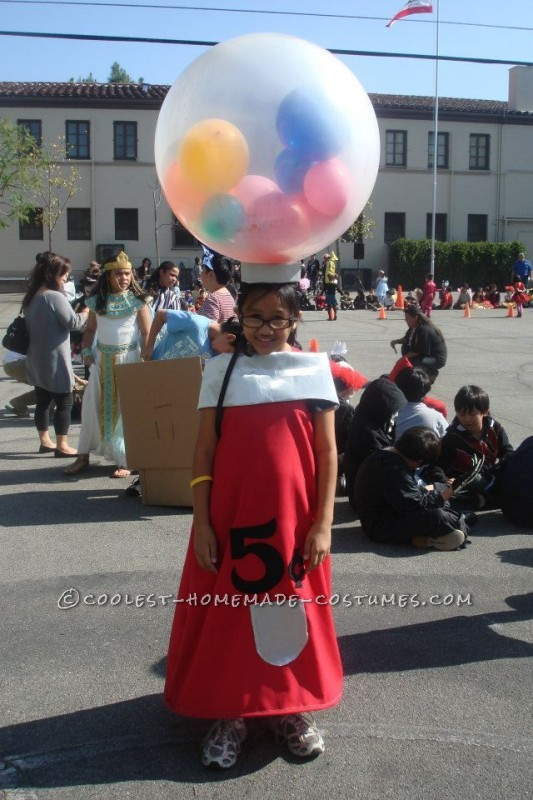 80's-Inspired DIY Gumball Machine Costume Idea for a Girl - 1