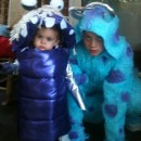 Adorable Boo and Sully from Monsters Inc. Toddler and Child Costumes