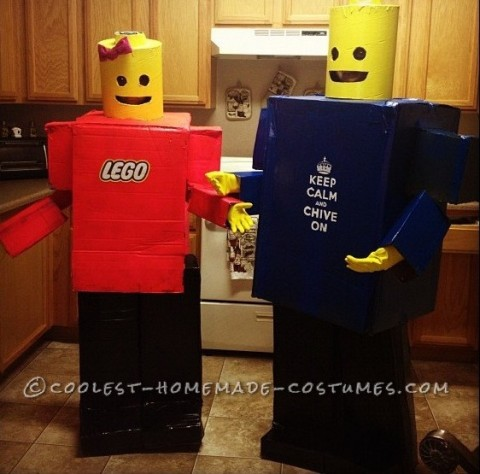 Awesome Homemade Lego Minifigure Couple Costume