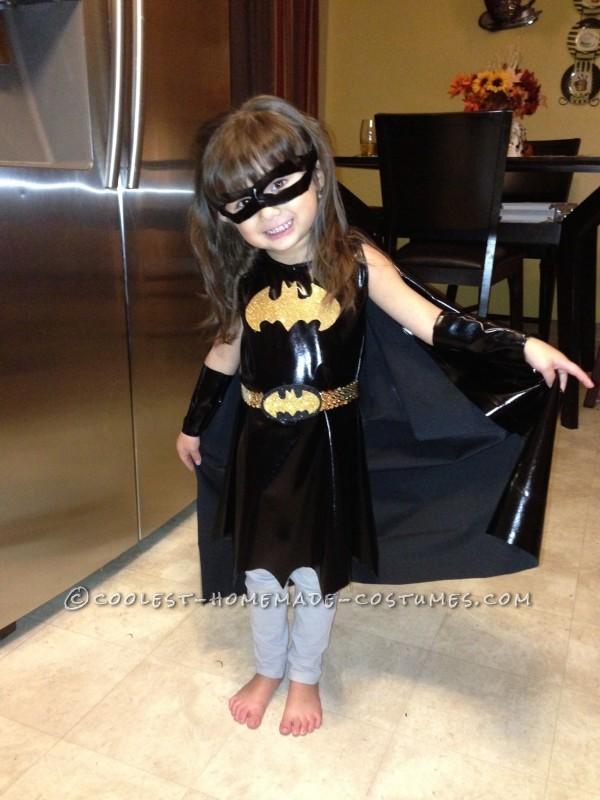 Easy Last-Minute Homemade Bat Girl Costume for a Little Girl
