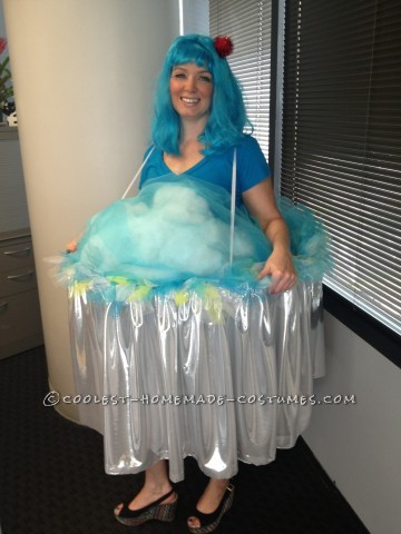 Homemade Blue Hawaiian Cupcake Costume