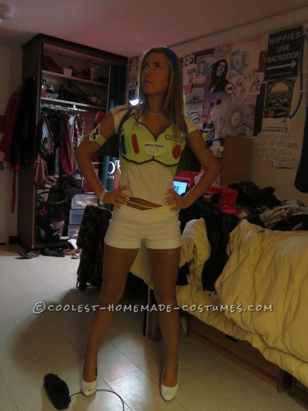 Sexy Homemade Buzz Lightyear Costume - 1