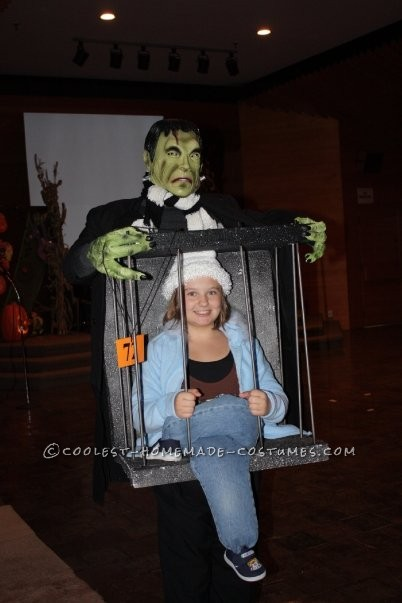 Captured by Frankenstein Caged Illusion Homemade Costume Idea - 1