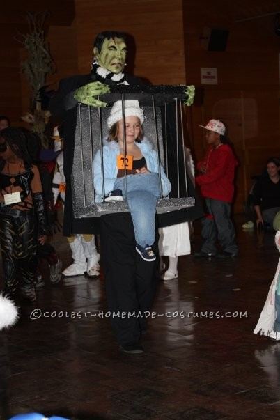 Captured by Frankenstein Caged Illusion Homemade Costume Idea - 3