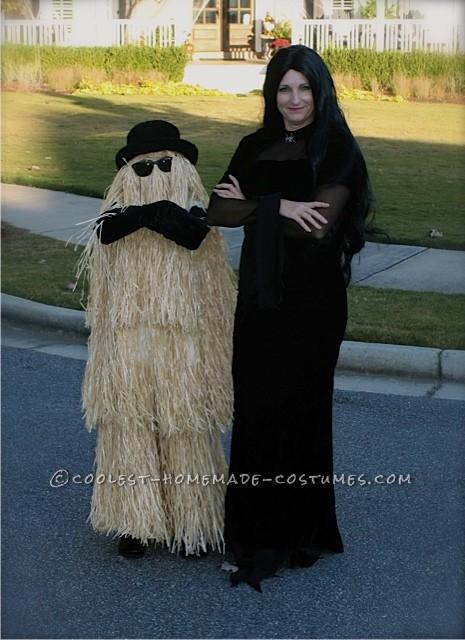 Cousin Itt and Morticia Addams
