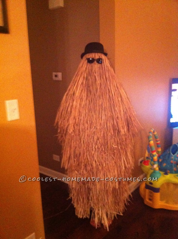 Super-Easy DIY Cousin Itt Costume from the Addams Family - 3