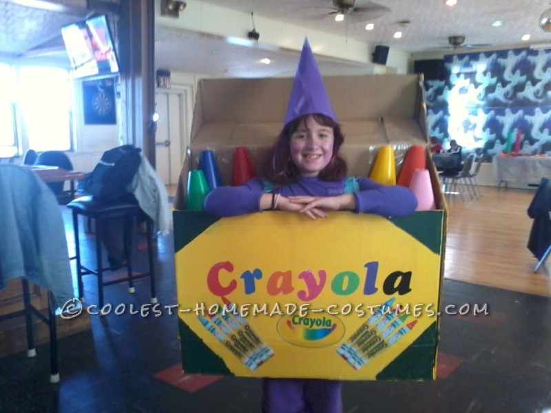 Creative Crayola Crayon Box DIY Costume Idea for a Girl
