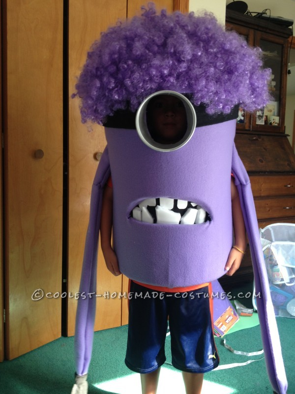 Coolest Homemade Purple Evil Minion Costume from Despicable Me