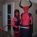 Homemade Devil Couple Costume Based on Legend