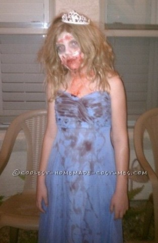 Easy Prom Zombie Costume for a Girl - Super Easy and Cheap!