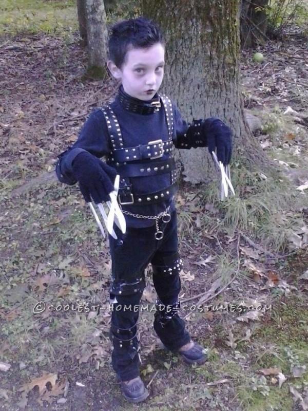 Cool Edward Scissorhands Homemade Costume Idea for a Boy - 2