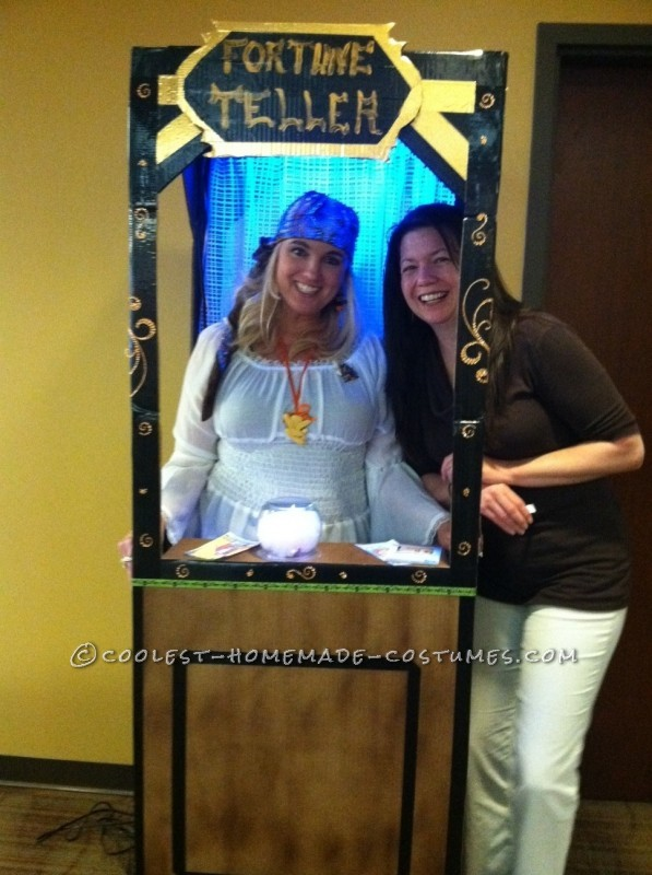 Fantastic Fortune Teller in Booth Homemade Costume Idea