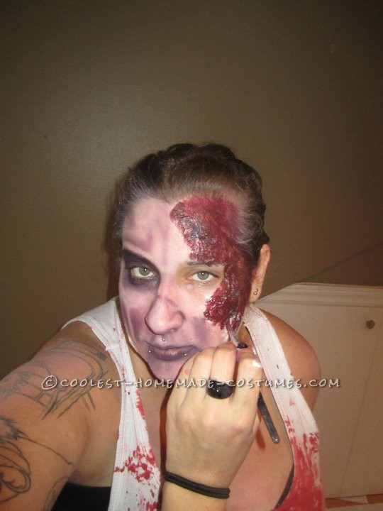 Horrifying DIY Fire(wo)man Zombie Costumes for a Couple - 5