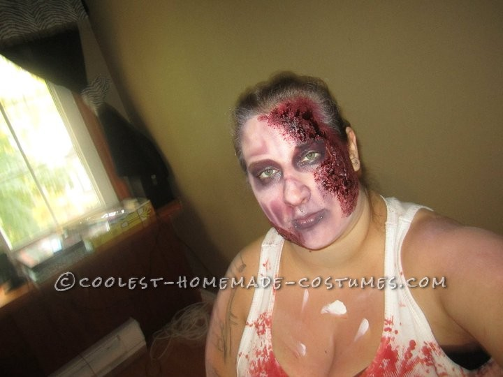 Horrifying DIY Fire(wo)man Zombie Costumes for a Couple - 6
