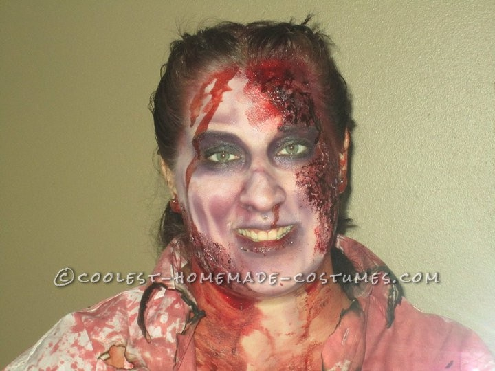 Horrifying DIY Fire(wo)man Zombie Costumes for a Couple - 7