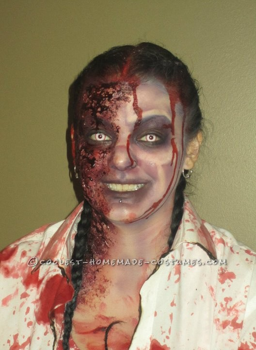 Horrifying DIY Fire(wo)man Zombie Costumes for a Couple - 8