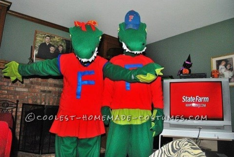 Homemade Florida Gators Mascot Couple Costumes
