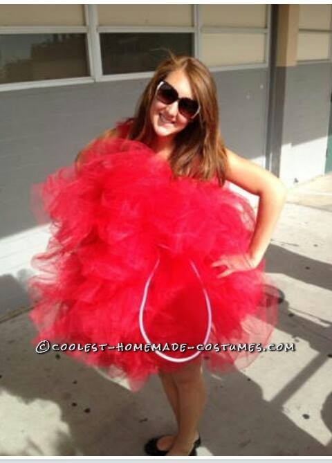 At school after winning costume contest