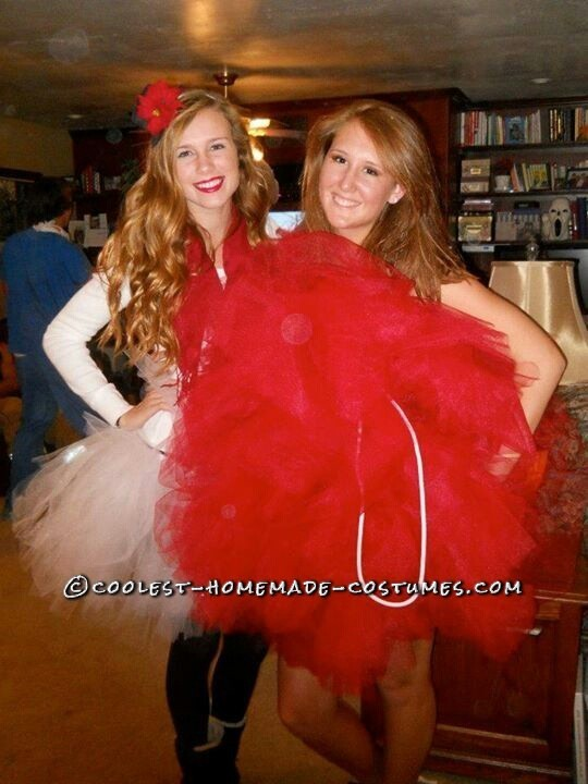 Giant Loofah Sponge Homemade Costume Idea for a Woman