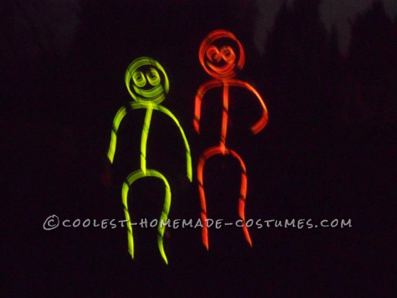 Awesome Glow in the Dark Stick Men and Women Group Costume (Took Less Than an Hour!) - 1