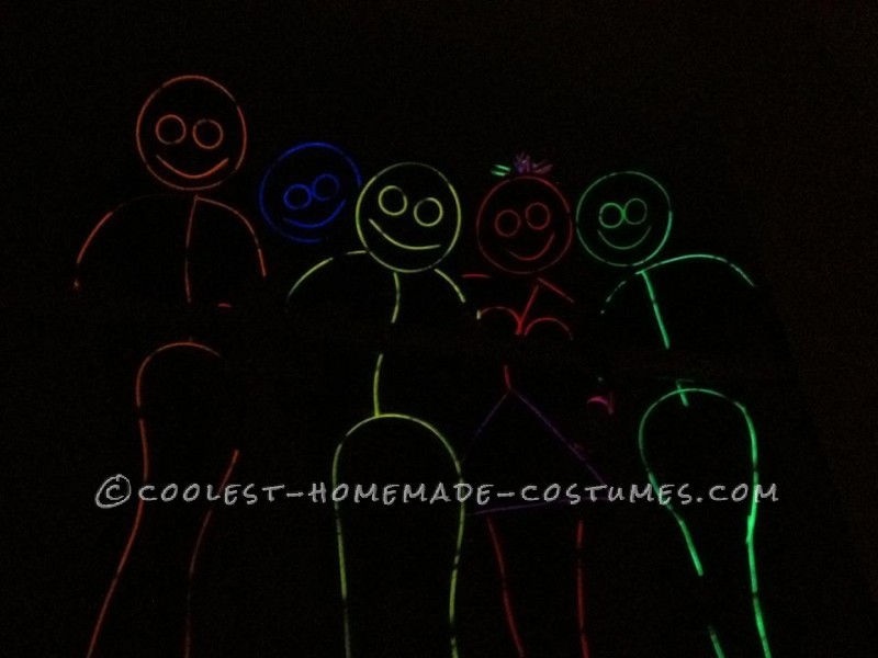 Awesome Glow in the Dark Stick Men and Women Group Costume (Took Less Than an Hour!)