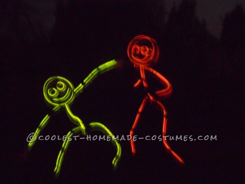Awesome Glow in the Dark Stick Men and Women Group Costume (Took Less Than an Hour!) - 2