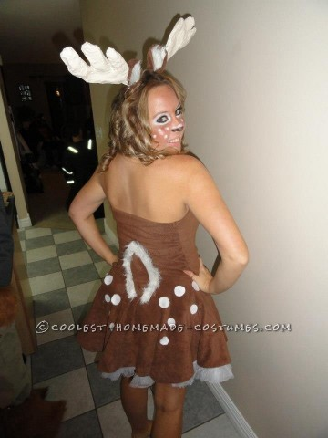 Sexy Glue Gun Deer Costume for a Woman