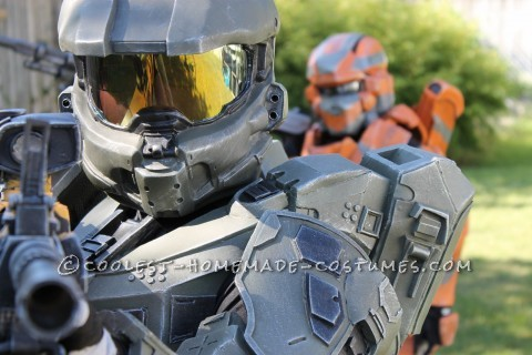 Halo 4 Master Chief Costume for 12-Year Old Boy Completely Scratchbuilt!