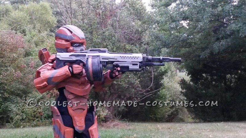 halo 4 warrior costume for 9 year old boy entirely scratchbuilt