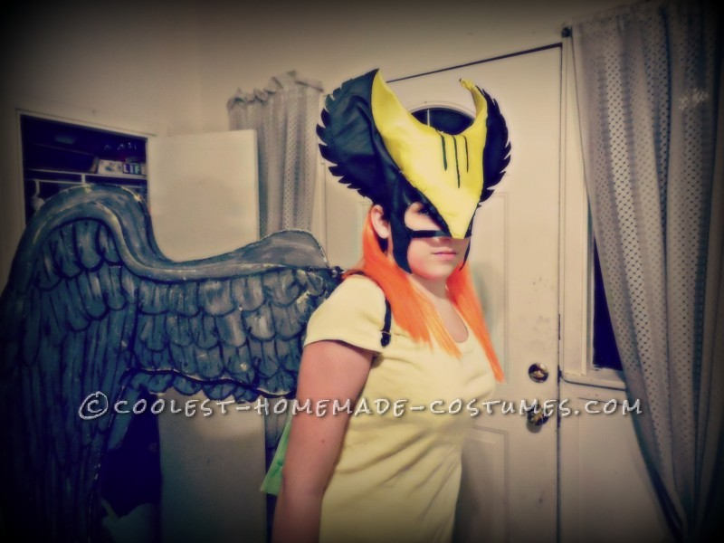 Coolest Homemade Hawk Girl Costume - 5