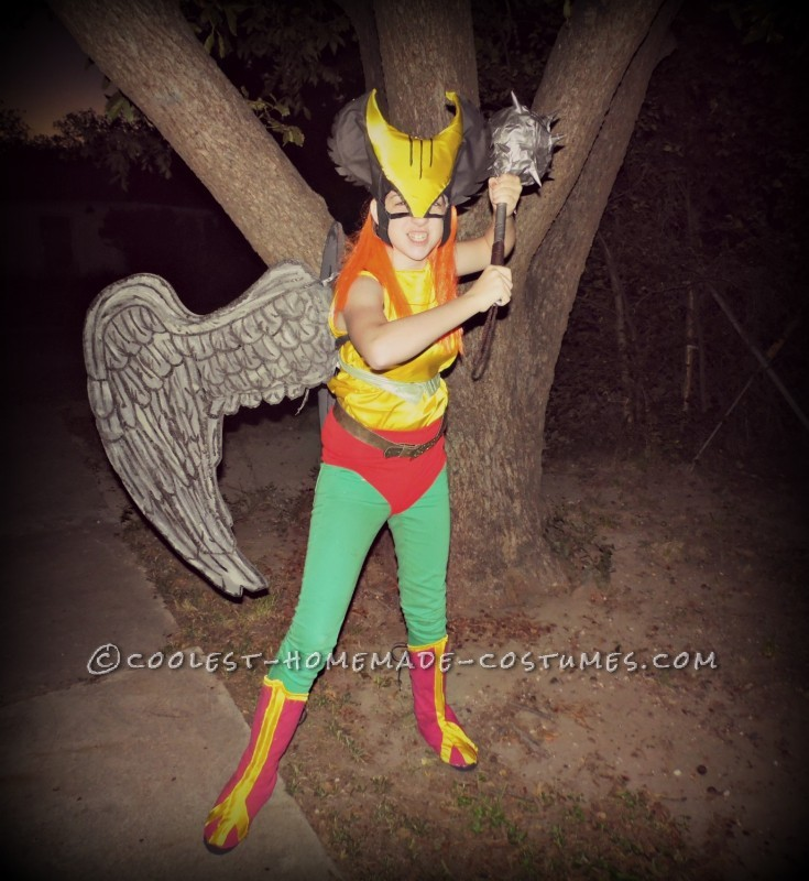 Coolest Homemade Hawk Girl Costume - 1