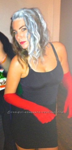 Homemade Cruella De Vil Costume