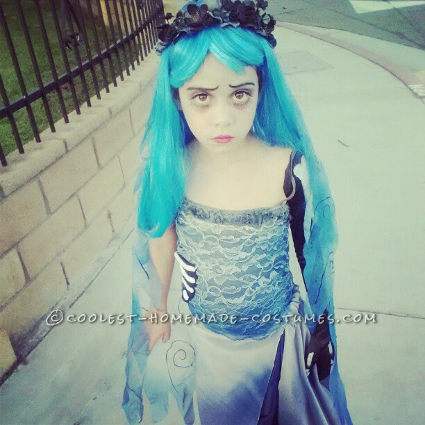 Homemade Corpse Bride Costume for a Girl