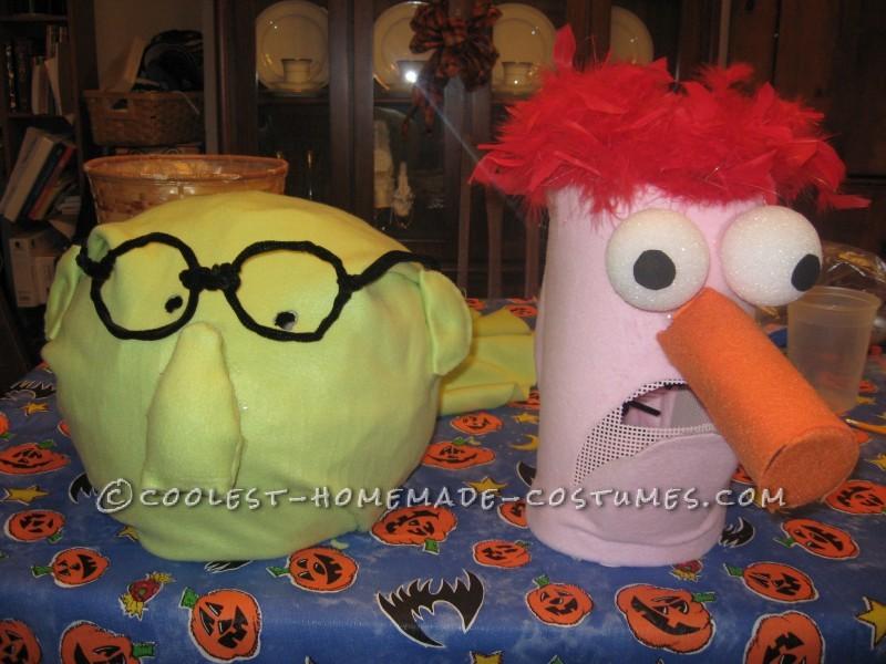 Homemade Beaker and Bunsen Halloween Costume