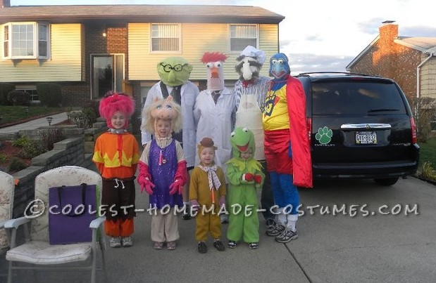 Homemade Muppets Group Costume