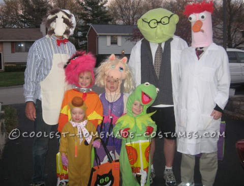 Coolest Homemade Muppets Family Group Costume