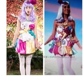 Sexy DIY Katy Perry Candy Land Halloween Costume - 2