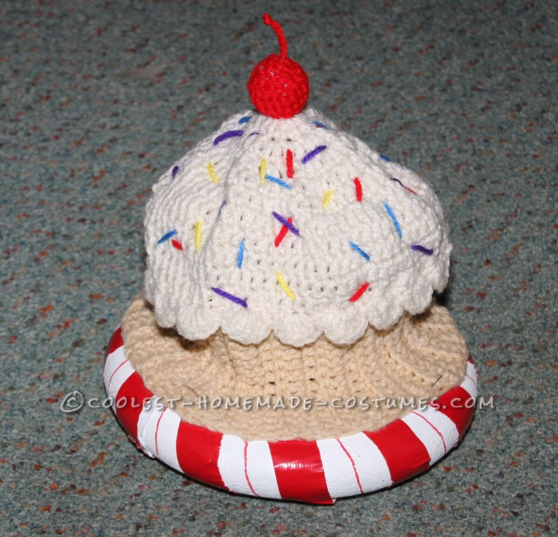Cupcake Hat with Peppermint Base