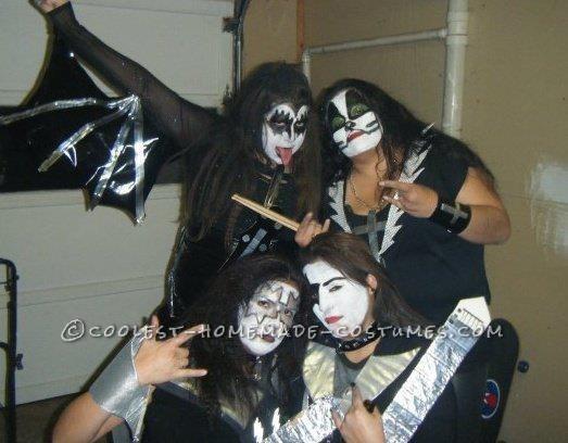 Homemade Girl Group KISS Costume