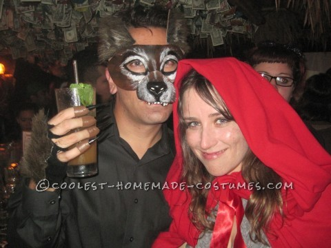 Last-Minute Wolf and Little Red Riding Hood Couple's Costumes