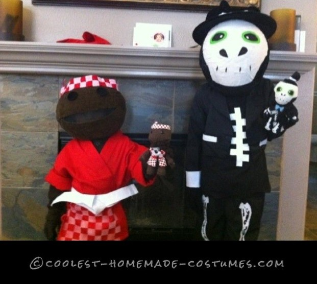 Cool Homemade LittleBigPlanet Child Couple Costume