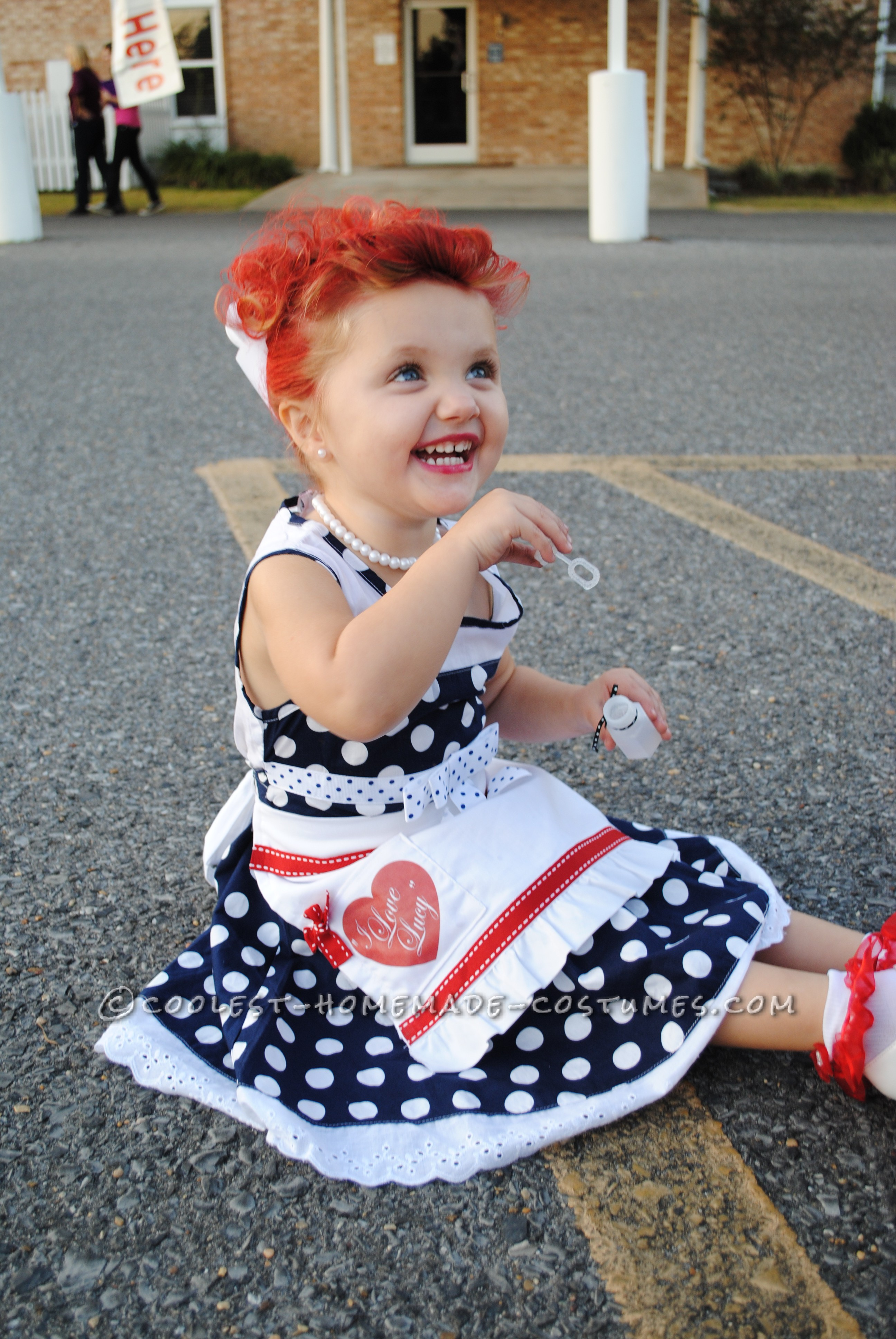 "Adorable ""I Love Lucy"" Homemade Costume for a Toddler!"