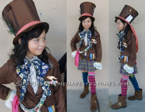 Coolest Mad Hatter Girl Costume Idea