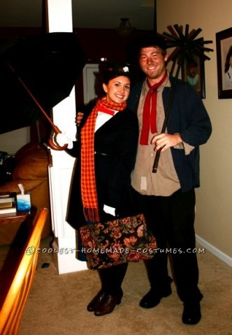 Mary Poppins and Burt the Chimney Sweep Cute Couples Costume