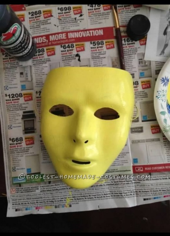 Skeletor's mask before I painted it.