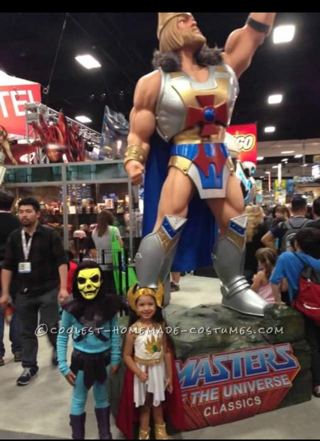 By the Masters of the Universe display at Comic Con